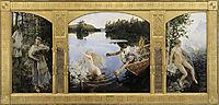 Aino Myth, Triptych, 1891, gallenkallela