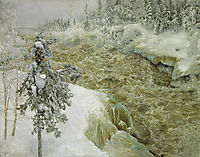 Imatra in Winter, 1893, gallenkallela