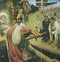 Le depart de Väinämöinen, 1906, gallenkallela