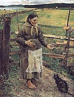 Old Woman With a Cat , 1885, gallenkallela