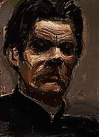 Portrait of Maxim Gorky, 1906, gallenkallela