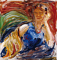 Portrait of Phyllis Sjöström, 1914, gallenkallela