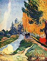 Alyscamps, Elysées, 1888, gauguin