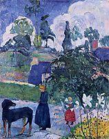 Among the lillies, 1893, gauguin