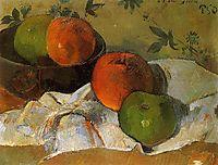 Apples in bowl, 1888, gauguin