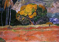 At the Foot of the Mountain, 1892, gauguin