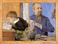 Aube the Sculptor and His Son, 1882, gauguin