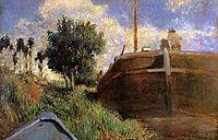 Blue Barge, 1882, gauguin