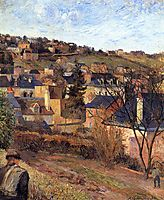 Blue roofs of Rouen, 1884, gauguin