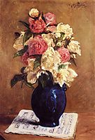 Bouquet of Peonies on a Musical Score, 1876, gauguin