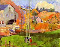 A breton landscape. David-s mill., 1894, gauguin