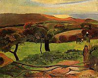 Breton Landscape - Fields by the Sea (Le Pouldu), 1889, gauguin