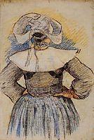 Breton Woman, 1886, gauguin