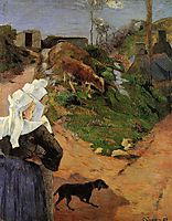 Breton Women at the Turn, 1888, gauguin