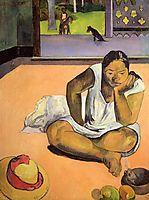 Brooding Woman, 1891, gauguin