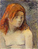Bust of a nude girl, 1884, gauguin