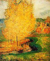 By the Stream, Autumn, 1885, gauguin
