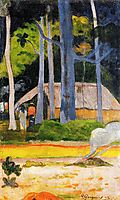 Cabin under the trees, 1892, gauguin