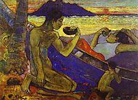 A Canoe (Tahitian Family),, 1896, gauguin