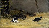 Chicken Coop, c.1875, gauguin