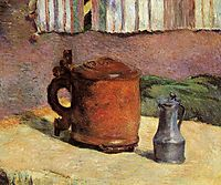 Clay jug and irin mug, 1880, gauguin