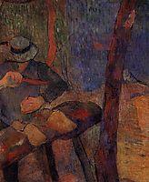 The clog-maker, 1888, gauguin
