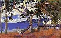 Coastal Landscape from Martinique, 1887, gauguin