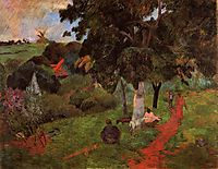 Coming and going, Martinique, 1897, gauguin