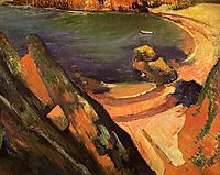 The creek, Le Pouldu, 1889, gauguin