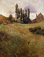 Dogs running through a field, 1888, gauguin