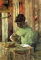 The embroiderer or Mette Gauguin, 1878, gauguin