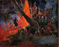 Fire Dance, 1891, gauguin