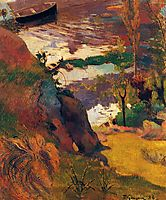 Fisherman and bathers on the Aven, 1888, gauguin