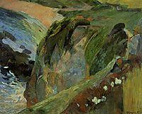 Flutist on the cliffs, 1889, gauguin