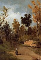 The Forest Path, 1873, gauguin