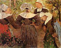 Four Breton Women, 1886, gauguin