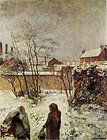 The garden in winter, rue Carcel, 1883, gauguin