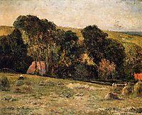 Haymaking near Dieppe, 1885, gauguin