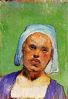 Head of a Breton (Marie Louarn), 1888, gauguin