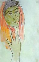 Head of a Woman, c.1892, gauguin