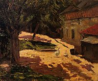 A Henhouse, 1884, gauguin