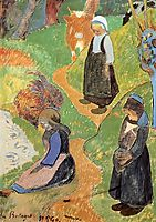 In Brittany, 1889, gauguin