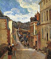 Jouvenet Street in Rouen, 1884, gauguin