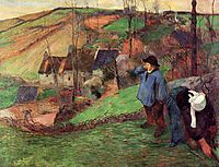 Landscape of Brittany, 1888, gauguin