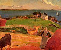 Landscape at Le Pouldu, the isolated house, 1889, gauguin