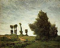 Landscape with Poplars, 1875, gauguin