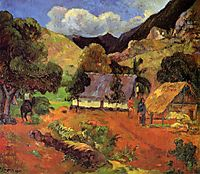 Landscape with three figures, 1901, gauguin
