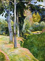 The large tree, 1889, gauguin