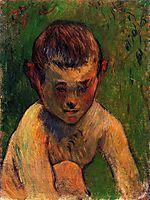 Little breton bather, 1888, gauguin