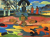 Mahana no atua (the day of God), 1894, gauguin